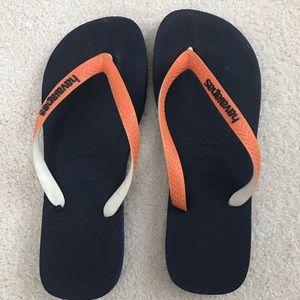 Havaianas Flip-Flops Navy Blue and Orange